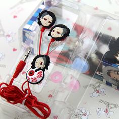 Japan Anime Tokyo Ghoul Cosplay Uta Cute Earphone with 3 colors Earbuds