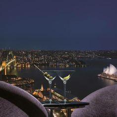 Blu Bar on 36, Shangri-La Hotel, Sydney - High above Sydney sits a sophisticated cocktail lounge, where the fine selection of premium drinks is surpassed only by the sweeping views of the city's iconic cityscape, featuring the Harbour Bridge and the Opera House. Why not come and see how we earned an award for excellence?