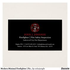 39 Best Firefighter Business Cards Images On Pinterest Business