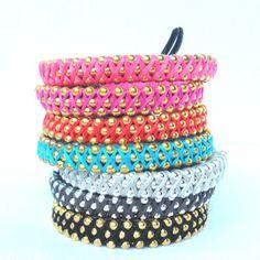 Custom Lauhala Bracelet in Chrome or Brass Beads. $15.00, via Etsy.