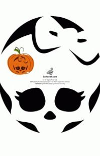 Download this Night Owl Pumpkin Carving Stencil and other free