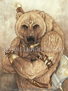 """Whimsical animal, anthro, wildlife, and fantasy artwork with a mystical touch by renowned artist Christy """"Goldenwolf"""" Grandjean from Cedar Crest, New Mexico. Grizzly Bear Tattoos, Bear Totem, Bear Art, Fantasy Artwork, Native American Art, Furry Art, Mythical Creatures, Character Art, Banners"""