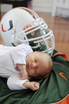 Newborn photo shoot for sports fan but cowboys!