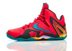 "Nike presents superhuman LeBron James' upcoming Nike LeBron 11 Elite ""Hero"" colorway."
