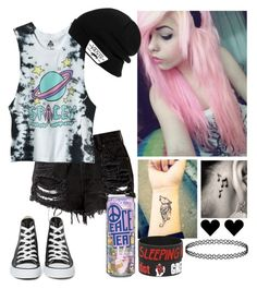"""""""Spacey Princess"""" by dapizzaluver ❤ liked on Polyvore featuring Music Notes, Converse and Vans"""