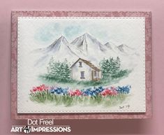 Art Impressions Cards, Dots Art, Watercolor Stamps, Watercolor Cards, Painting, Art, Photo And Video, Instagram Photo