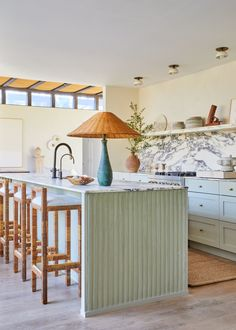Home Interior Layout Peek Inside Athena Calderones Newly Renovated Hamptons Home Architectural Digest, Green Kitchen, Kitchen Decor, Kitchen Design, Turquoise Kitchen, Kitchen Colors, Turbulence Deco, D House, Oak Dining Table