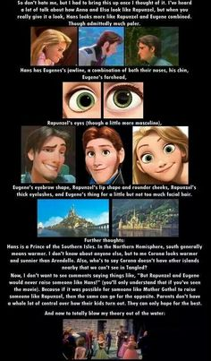Hans.... Rapunzel and Flynn's child.... Interesting thought, that.