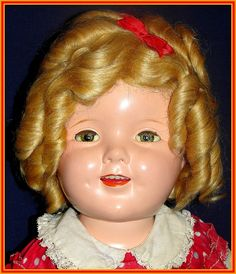 "Wonderful 20"" Composition Ideal Shirley Temple Doll - ""Littlest Rebel"" Dress For sale on Ruby Lane"