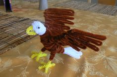 Bald Eagle from Pipe Cleaners