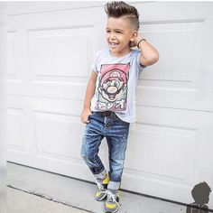 Babies with Style! Fashion Kids, Toddler Boy Fashion, Toddler Boy Outfits, Toddler Boys, Kids Outfits, Fashion Wear, Cute Boys, Cool Kids, Play Clothing