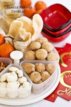 Traditional melt-in-the-mouth Chinese Peanut Cookies made gluten free using rice flour. They are a favorite during the Chinese New Year and popular throughout the year. | Food . Culture . Stories MalaysianChinesekitchen.com