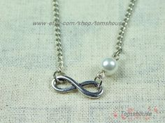 silver Infinity necklace  bridesmaid gifts  infinity by tomshouse, $1.99