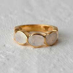 Moonstone Path Ring