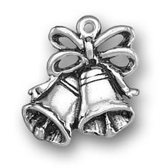 Always Charming - PPP-2191 - Sterling Silver Wedding Bells Charm: Flat Always Charming