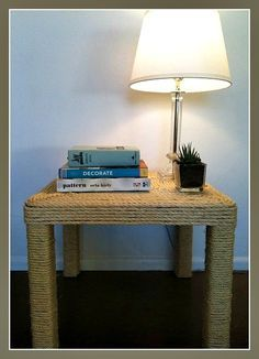 DIY Sisal Table, Do-it-yourself ideas with rope