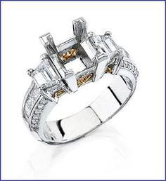 Gregorio 18K White Diamond Engagement Ring MTR-320
