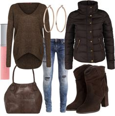 Brown multi #fashion #style #look #dress #outfit #luxury #trend #mode #nobeliostyle
