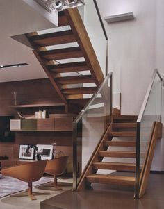 Charmant Walnut Open Tread Staircase Half Turn   Google Search