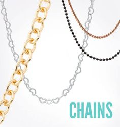 Select your perfect chain from a variety of lengths and styles.   #origamiowl #chain #necklace
