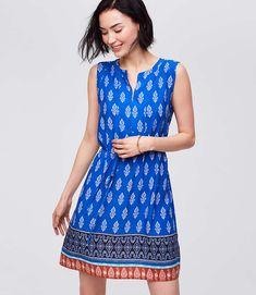 Shop LOFT for stylish women's clothing. You'll love our irresistible Border Paisley Tie Waist Dress - shop LOFT.com today!