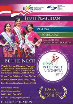 "PEMILIHAN MISS INTERNET INDONESIA WILAYAH KEPULAUAN RIAU   BE THE NEXT...   "" PESONA, KECERDAS..."