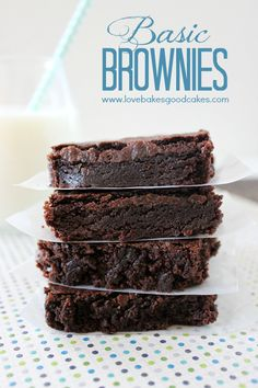Basic Brownies - You probably have everything you need to make these chocolaty treats! #chocolate #brownies | Flickr - Photo Sharing!