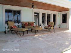 florida home with travertine patio