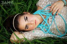 Turquoise and blush beautiful senior girl