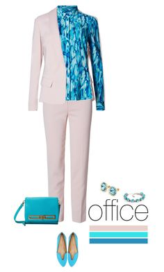 Office outfit: Dusty Rose - Turquoise by downtownblues on Polyvore