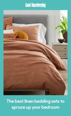 west elm's modern duvet covers help make a beautiful bed. Find organic and soft cotton duvet covers in bold prints and smart solids. Linen Sheet Sets, Bedding Set, Belgian Linen Duvet Covers, Bed, Orange Bedding, Bed Styling, Duvet, Linen Duvet, Linen Duvet Covers