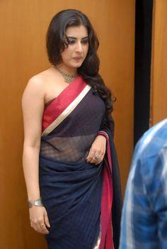 a43e2dfc4a7065 Veda  Archana actress in full backless bikini blouse black transparent    saree Designer Sarees Online