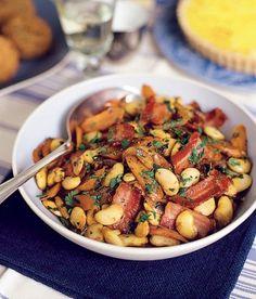 Fazolový salát se slaninou Kung Pao Chicken, Ethnic Recipes, Fitness, Food, Meals, Health Fitness, Yemek, Rogue Fitness, Eten