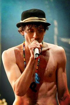 Mika shirtless in Paris, Place de la Bastille Tuesday 21st May 2013