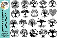 Tree of Life Silhouette Clip Art