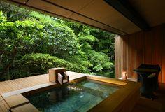 海石榴 Japanese Spa, Japanese Bathroom, Home Spa Room, Spa Rooms, Swimming Pools Backyard, Swimming Pool Designs, Future House, My House, Piscina Interior