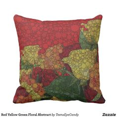 Red Yellow Green Floral Abstract