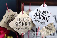 Sparkler Tags  Let Love Sparkle  Wedding Favor Tags by marrygrams, $16.00