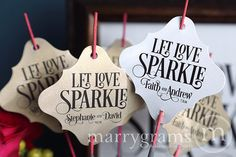 Sparkler Tags  Let Love Sparkle  Wedding Favor Tags by marrygrams, $16.00