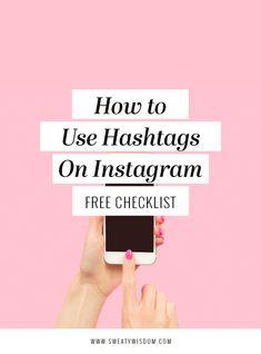 How to Use Hashtags on // Sweaty Wisdom