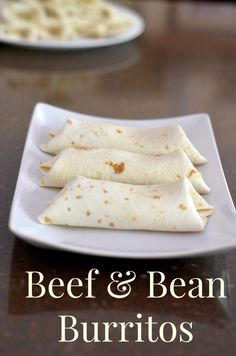 I love making a bunch of these and freezing them.  If you use the small taco size burritos they are a great size for the kids to reheat them afterschool for a snack. #kidssnacks