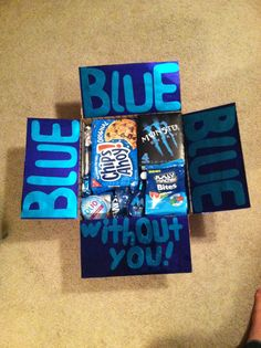 #deployment #carepackage #blue