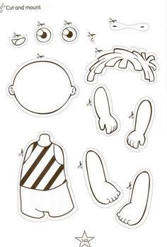 Resultado de imagen de parts of the body printables preschool