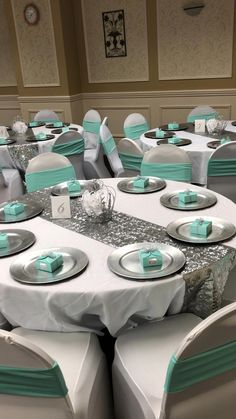 Perceptive Won Quinceanera Party Themes Buy Now. Informations About Perceptive won quince Tiffany Blue Party, Tiffany Birthday Party, Tiffany Blue Weddings, Tiffany Theme, Tiffany Wedding, Green Weddings, Quince Decorations, Quinceanera Decorations, Quinceanera Party