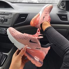 wholesale dealer 611ac 48c9b Nike Air Max 270 – Pink Nike Air Max 270 Women s Shoe in pink, black and  white. One of the most popular Nike sneakers of