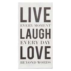 Stratton Home Decor 'Live Laugh Love' Box Wall Art
