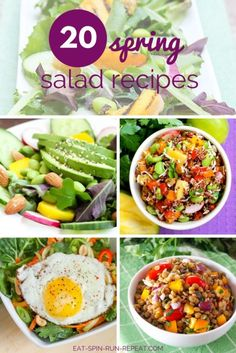Clean Eating Inspiration: Don't fall into a rut - these 20 healthy and satisfying salads are ones you'll truly look forward to eating!