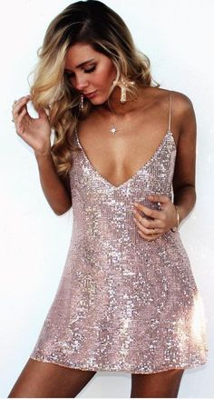 #summer #musthave #outfits  Pink Sparkle Little Dress                                                                             Source