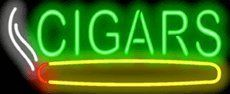 "Cigars Neon Sign by Smoke Shop Neon Signs. $179.00. Brand New, Quality Neon Sign - Delivered to Your Door in a Few Days!. Mounted on a Black Backing for Maximum Visibility!. 32"" wide x 13"" high. Neon Attracts Immediate Attention!. This Neon Sign features Green Letters with a Multi-Colored Graphic and measures 32 wide x 13 high. Priced lower than ever, this sign can be delivered to you in just a few days!"