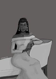 #digital #krita #queen #b&w #pose #drawing